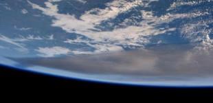 Una volcan desde el espacio
