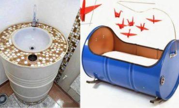 Tendencia: muebles realizados con tachos de aceite