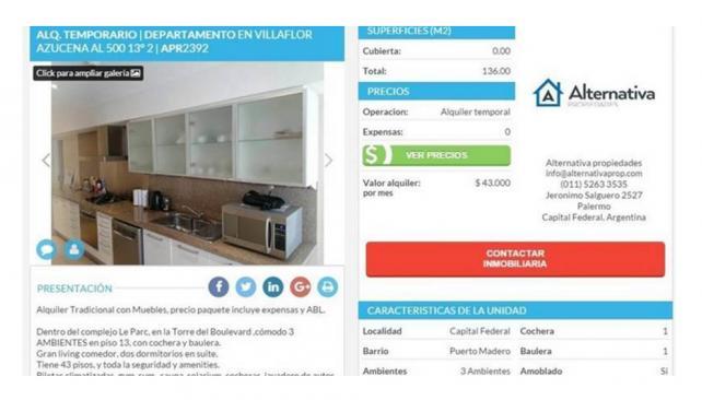 Alquilan el departamento donde vivía Nisman: ¿cuánto cuesta?