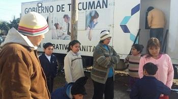 Trailer Movil de Salud presente en Barrio Floresta