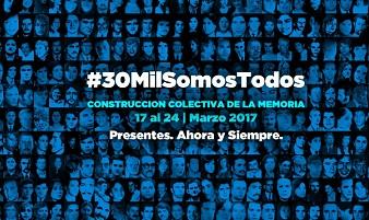 La campaña #30MilSomosTodos en las redes convoca a construir la memoria colectivamente