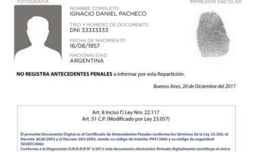 Ahora podés tramitar on-line el certificado de antecedentes penales
