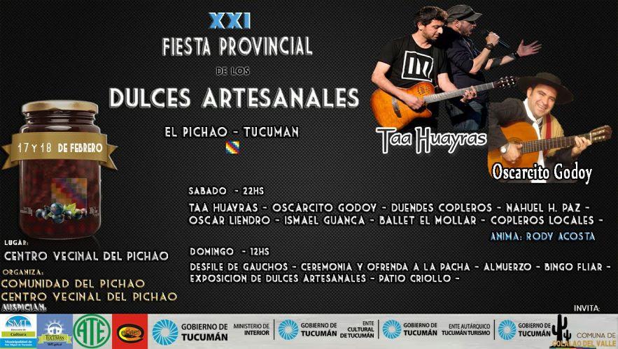Música, danza y dulces artesanales en El Pichao