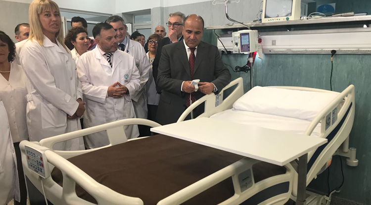 Inauguraron una nueva Unidad de Terapia Intensiva en el Avellaneda