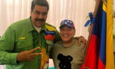 Tras el triunfo de Maduro, Maradona atendió a todos