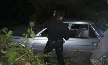 Desbarrancó un auto en San Javier