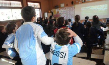 Sin asueto: el Mundial se vivirá en las escuelas
