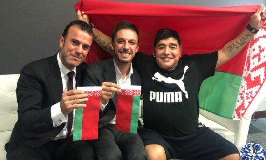 Maradona revoluciona Bielorrusia