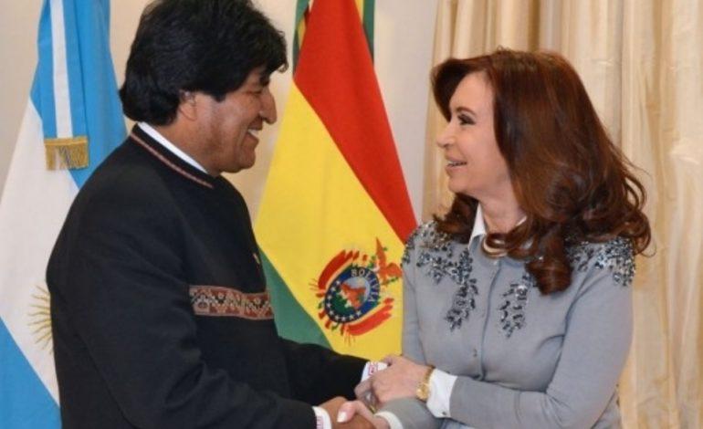 Evo Morales se solidarizó con Cristina y defiendió su inocencia