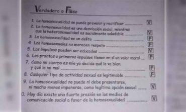 Santa Fe: Colegio religioso promueve la homofobia con material didáctico