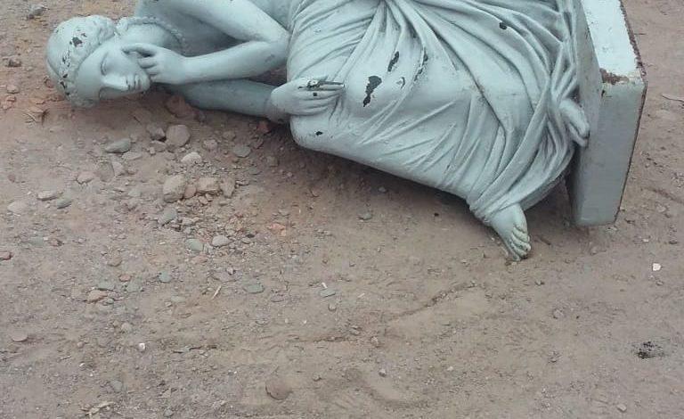 Apareció la estatua robada del Parque 9 de Julio