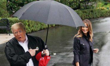 Trump no compartió paraguas con Melania y se armó un escándalo