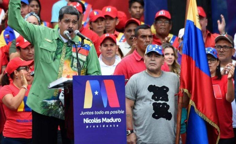 El incondicional apoyo de Maradona a Maduro