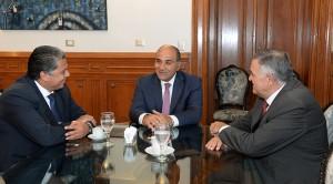 Manzur se reunió con el legislador Cristian Rodríguez