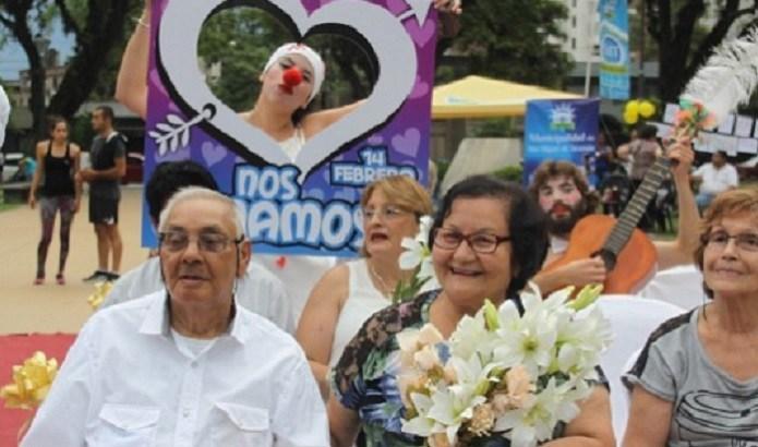 Los enamorados podrán celebrar su día en la Plaza San Martín