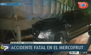 Accidente fatal en el Mercofrut: una mujer perdió la vida