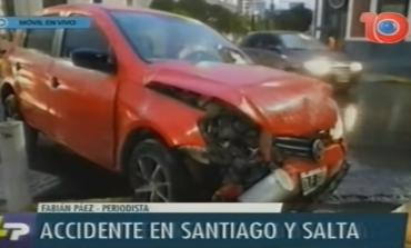 Fuerte choque en la esquina de Santiago y Salta