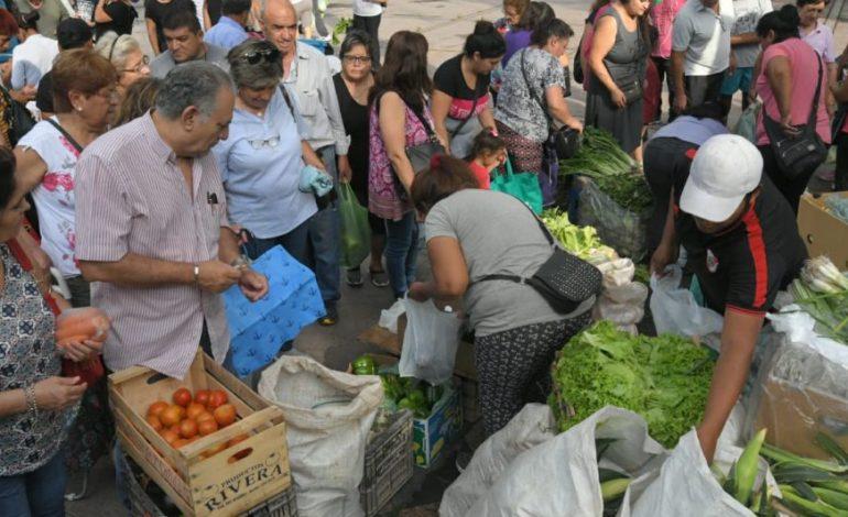 Realizan un nuevo verdurazo en Plaza Independencia