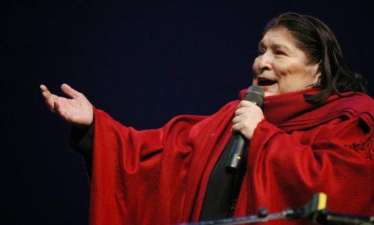 Homenaje a Mercedes Sosa con coplas, danzas folklóricas y un mural