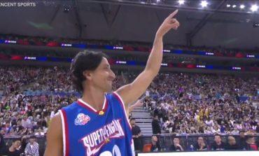 Con peluca, Manu Ginóbili volvió a jugar al básquet en China