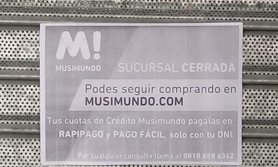En Necochea, Musimundo también cerró y despidió a 12 trabajadores