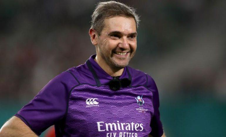 Mundial de rugby: El árbitro que hará historia en la final