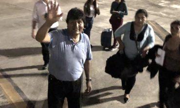 Con escala en Paraguay, Evo Morales viaja hacia México