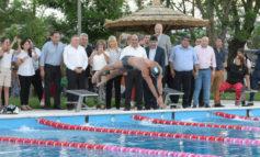 Con Meolans, inauguraron un natatorio en Aguilares