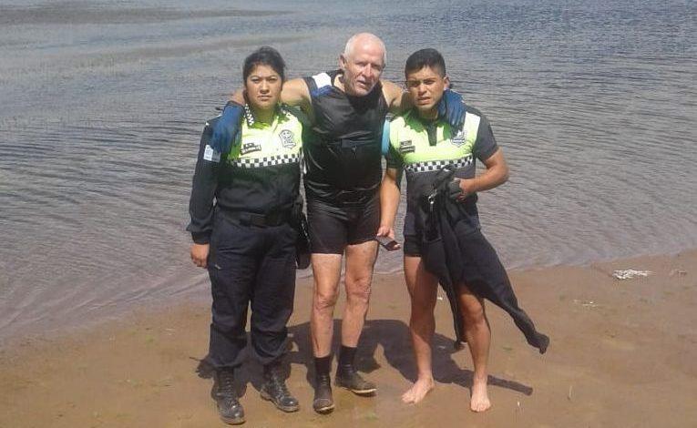 En menos de dos horas lo auxiliaron dos veces en el dique La Angostura