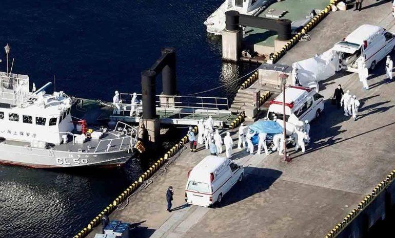 Un argentino con coronavirus en el crucero varado en Japón