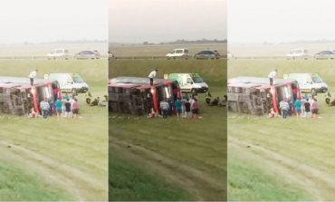 Accidente en la Ruta 2: hay dos muertos y al menos 10 heridos