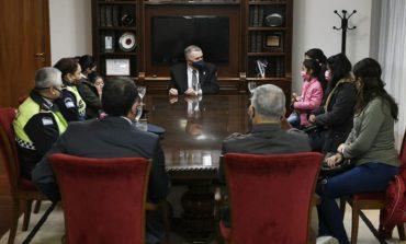 El Vicegobernador recibió a la familia del fallecido Cabo Lucena