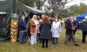 Realizaron un simulacro de coronavirus en el Liceo Militar