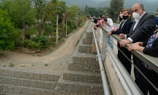 Inauguraron el puente nuevo sobre el río Muerto
