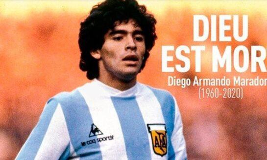 La impactante tapa de una revista francesa para despedir a Maradona