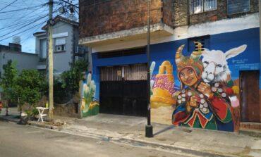 Inauguran un mural de carnaval en El Abasto