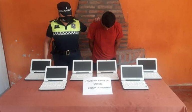 Robó notebooks de una escuela de La Ramada y quedó detenido