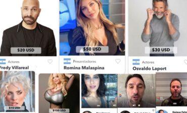 Famosos argentinos venden saludos personalizados en Internet a precio dólar
