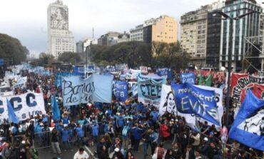 Organizaciones sociales se movilizan en apoyo a Alberto Fernández