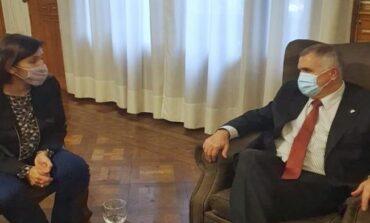 Jaldo y la ex intendenta Lizárraga se reunieron en Casa de Gobierno